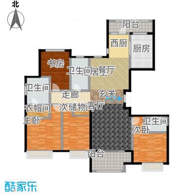 大连天地・悦丽海湾B13R2户型4室3卫1厨