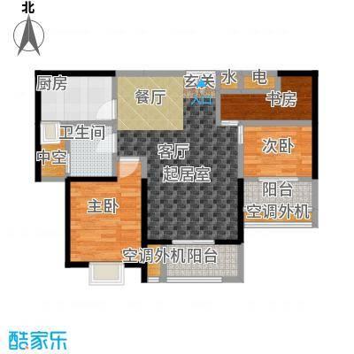 盛辉仕林东湖户型3室1卫1厨