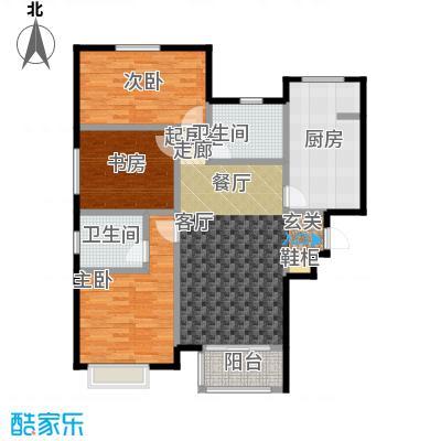 大连天地・悦丽海湾B13R2户型3室2卫1厨