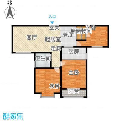 美巢蓝钻109.00㎡三室两厅一卫109㎡户型3室2厅1卫