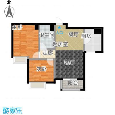 大连天地・悦丽海湾B13R4户型2室1卫1厨