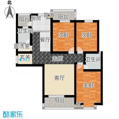 东方明珠3室2厅2卫1厨2阳台142.75㎡户型3室2厅2卫