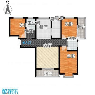 东方明珠3室2厅2卫1厨2阳台155.11㎡户型3室2厅2卫