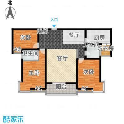 东方明珠3室2厅2卫1厨1阳台137.04㎡户型3室2厅2卫
