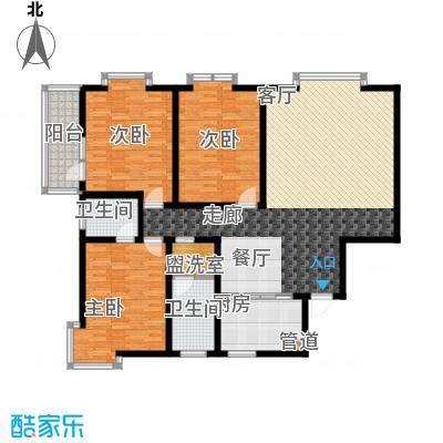 东方明珠3室2厅2卫1厨1阳台151.56㎡户型3室2厅2卫