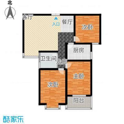 东方明珠3室2厅2卫1厨1阳台124.67㎡户型3室2厅2卫