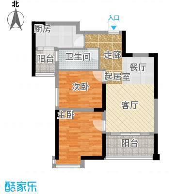 福鼎碧桂园阔景美居J475-B户型2室1卫1厨