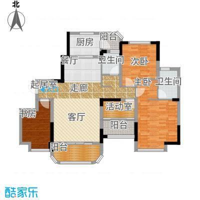福鼎碧桂园帝景华宅J622-B户型3室2卫1厨
