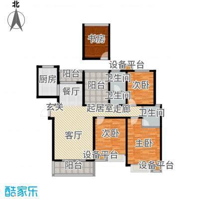 中央商务区A3 3室2厅1卫 142㎡户型3室2厅1卫
