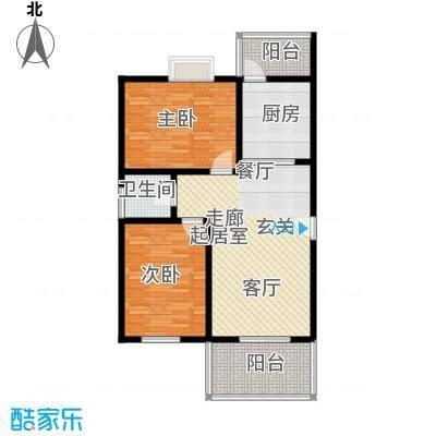 吉粮康城59.00㎡1-f-05房户型图 2室2厅1卫户型2室2厅2卫