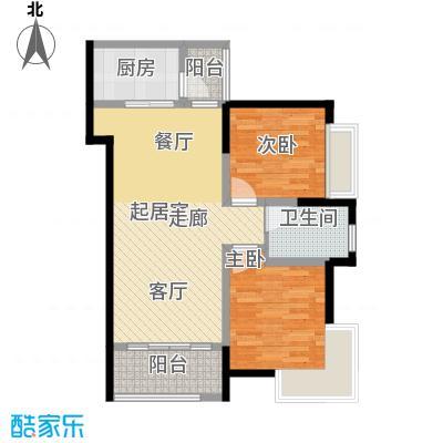 重庆巴南万达广场单卫户型2室1卫1厨