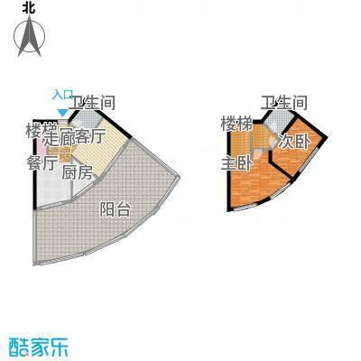 晋唐海湾F(跃层)户型2室2卫1厨