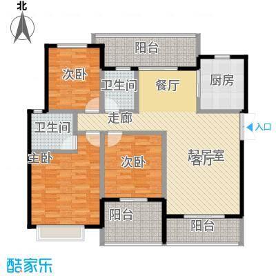 半山七号15号楼4FC4户型3室2卫1厨