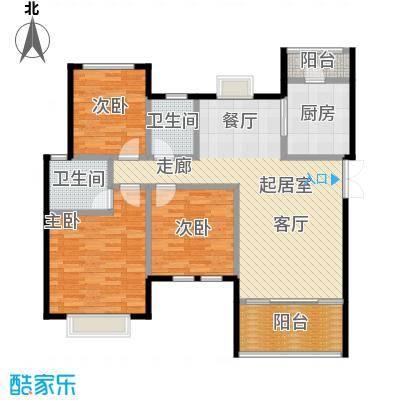 半山七号15号楼6FC6户型3室2卫1厨