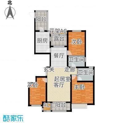 安阳万达广场137平户型3室2厅2卫