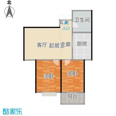 腾运世元76.80㎡N2 两室一厅一卫 76.8㎡户型2室1厅1卫