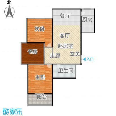 腾运世元114.51㎡N1 三室两厅一卫 114.51㎡户型3室2厅1卫