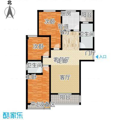 天骄华府三室两厅两卫157㎡户型3室2厅2卫
