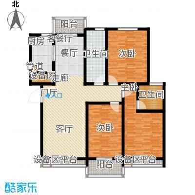 天骄华府三室两厅两卫152㎡户型3室2厅2卫