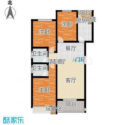 天骄华府三室两厅两卫139㎡户型3室2厅2卫