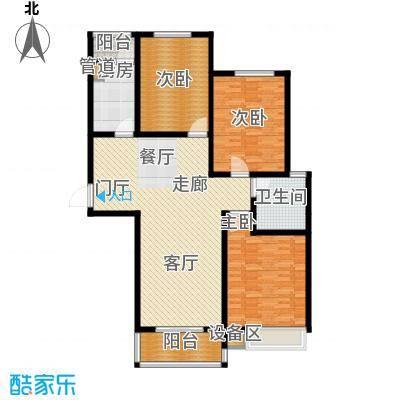 天骄华府三室两厅一卫137㎡户型3室2厅1卫