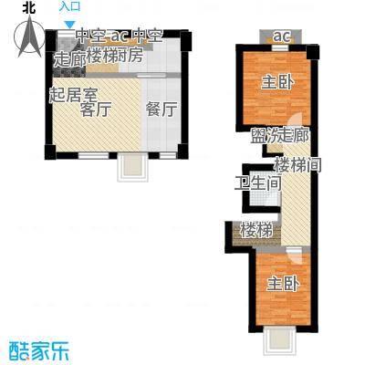 梅龙 枫香庭院87.00㎡A1户型2室2厅1卫