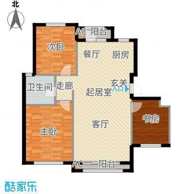 钰桥中央庭院QQ户型3室1卫