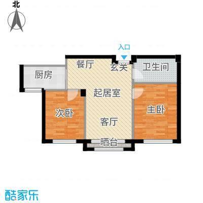 钰桥中央庭院QQ户型2室1卫1厨