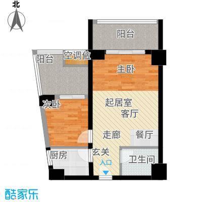 丽都公寓(七彩丽都)80.00㎡F户型