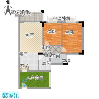 美林湖国际社区86.72㎡16/17/18号楼 07、08户型2室2厅1卫