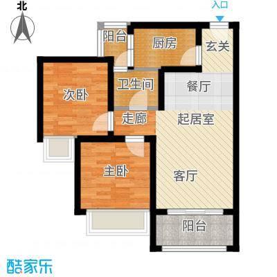 海韵阳光城户型2室1卫1厨