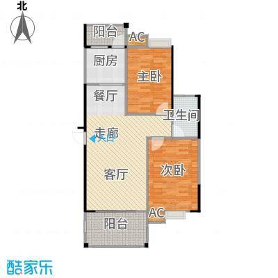 中央绿园93.91㎡M户型/1号楼户型2室2厅1卫