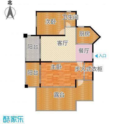 中央绿园96.65㎡K-1户型/1号楼户型2室2厅1卫