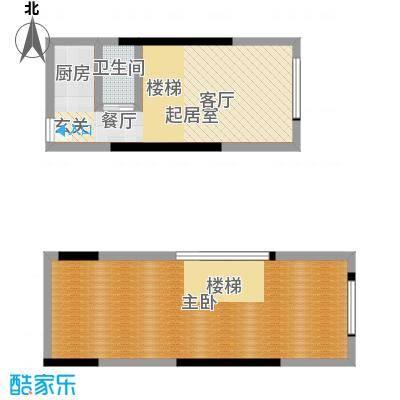 筑石派B8两室一厅一卫38.40平户型2室1厅1卫