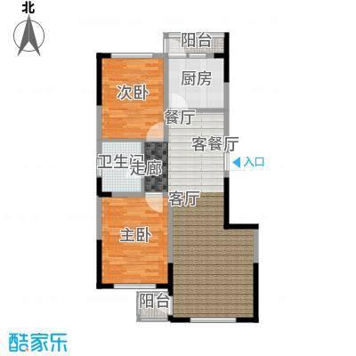中凯梦之城中凯梦之城16、17号楼两室两厅一卫91.6㎡户型图户型2室2厅1卫