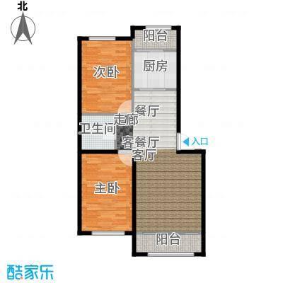 中凯梦之城中凯梦之城6号楼两室两厅一卫89.1㎡户型图户型2室2厅1卫