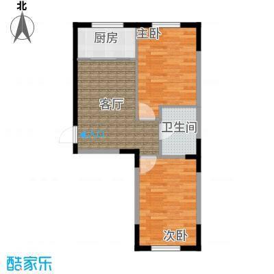 中凯梦之城中凯梦之城20号楼两室一厅一卫70.2㎡户型图户型2室1厅1卫