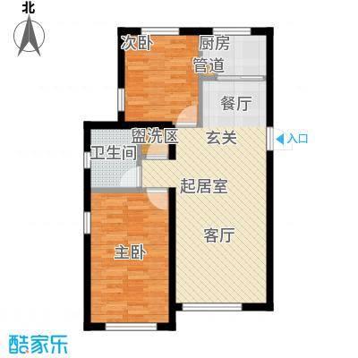 西山林语西山林语户型图B1&7 95平两居户型