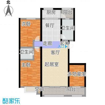 凯迪名苑二期132.89㎡三房户型图户型3室2厅1卫