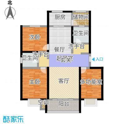 凯迪名苑二期122.21㎡三房户型图户型3室2厅1卫