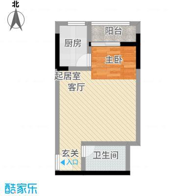 正升百老汇广场40.53㎡单间配套-套内面积40.53平方米户型