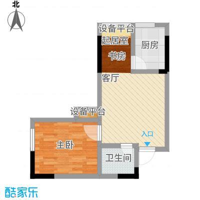 正升百老汇广场44.91㎡一房一厅一卫-套内面积44.91平方米户型