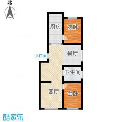 森晟江湾馨城117.81㎡5#楼户型2室2厅1卫