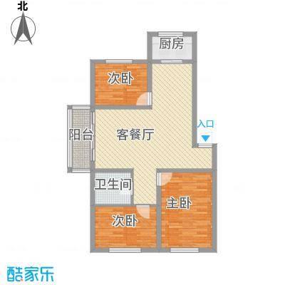 金地江畔花都金地・江畔花都Y10三室两厅一卫99.3平米户型图户型3室2厅1卫