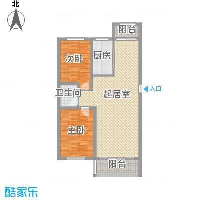 金地江畔花都金地・江畔花都Y9两室两厅一卫106.81平米户型图户型2室2厅1卫