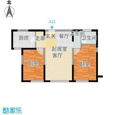 金地檀溪18层-2户型1卫1厨