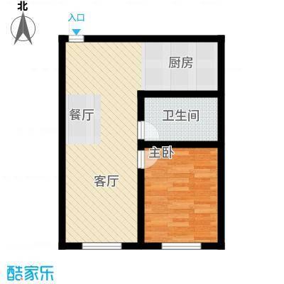 森晟江湾馨城66.30㎡5#户型1室1厅1卫