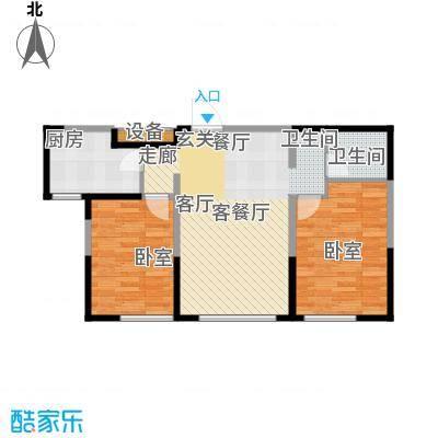 金地檀溪24层-2户型1厅1卫1厨
