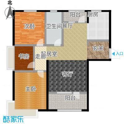 昊宇・山海湾E户型3室1卫