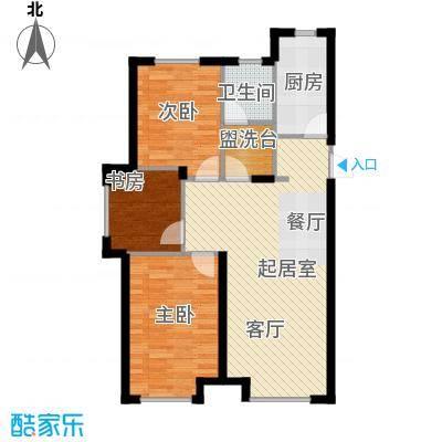中国铁建・青秀蓝湾K户型3室1卫1厨